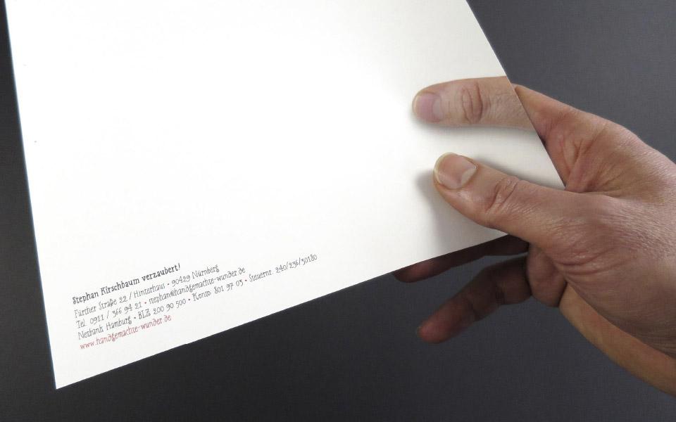 1 Handgemachte Wunder Briefbogen