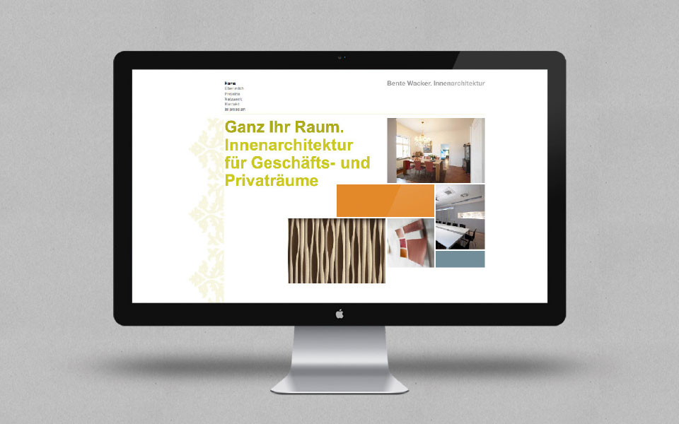 Bente Wacker. Innenarchitektur Homepage gross