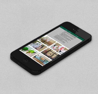 Arboretum Heppenheim Homepage auf dem iPhone
