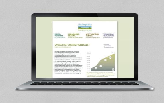 The Bergstrasse Homepage auf Smartphone