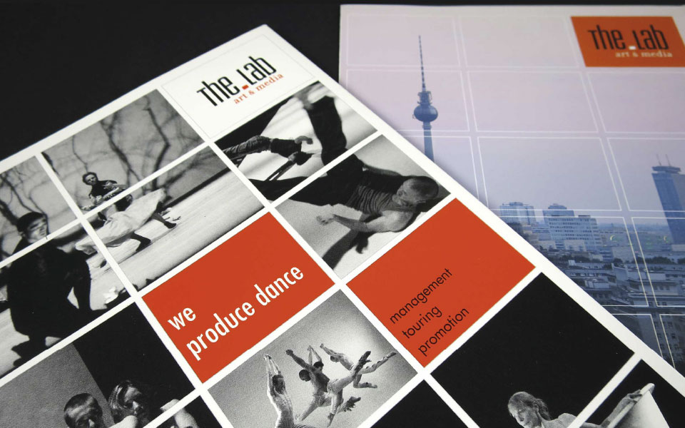 the.Lab Art & Media GmbH Imagebroschüre Umschlag