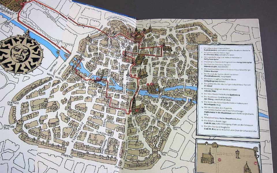 1-10 Stadtgeheimnisse Sagenbuch Stadtkarte