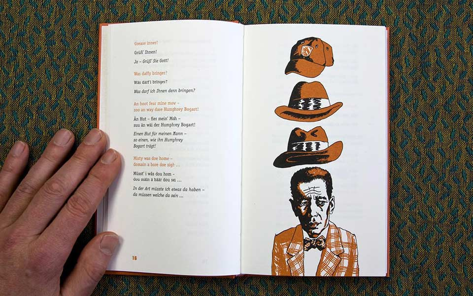 1-5 My war left Humphrey Bogart Illustration