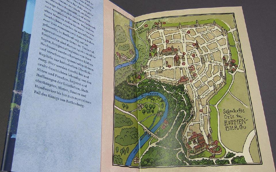 1-7 Taubergeflüster Stadtkarte Illustration