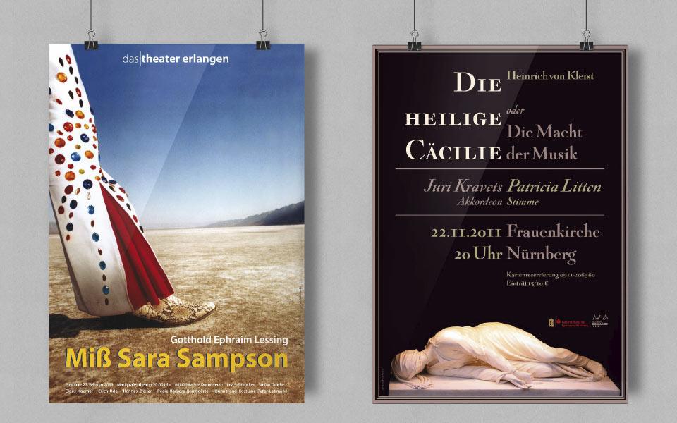 1 Theaterplakate Erlangen Nürnberg Gestaltung