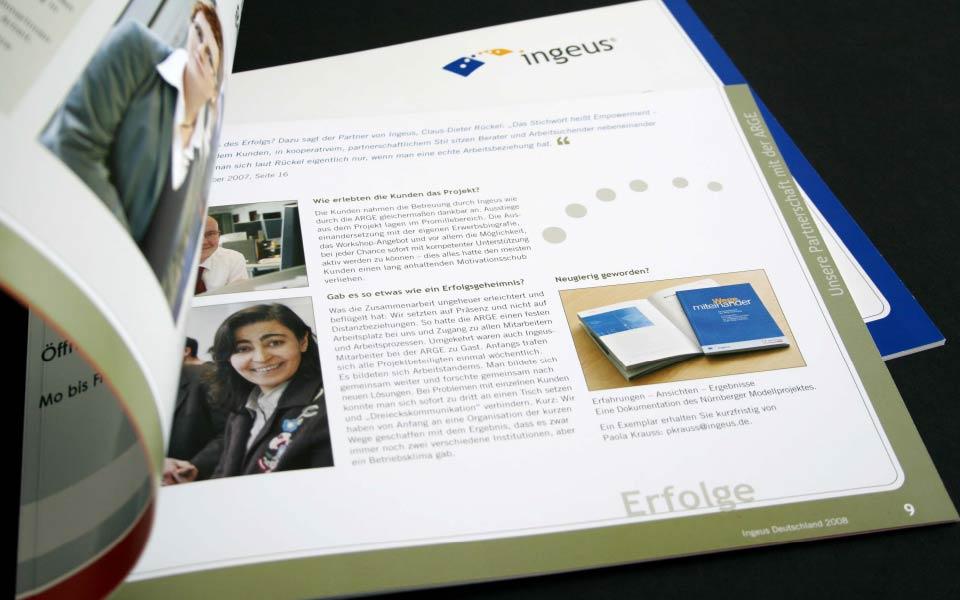 2 Ingeus Broschüre Innenseiten Gestaltung
