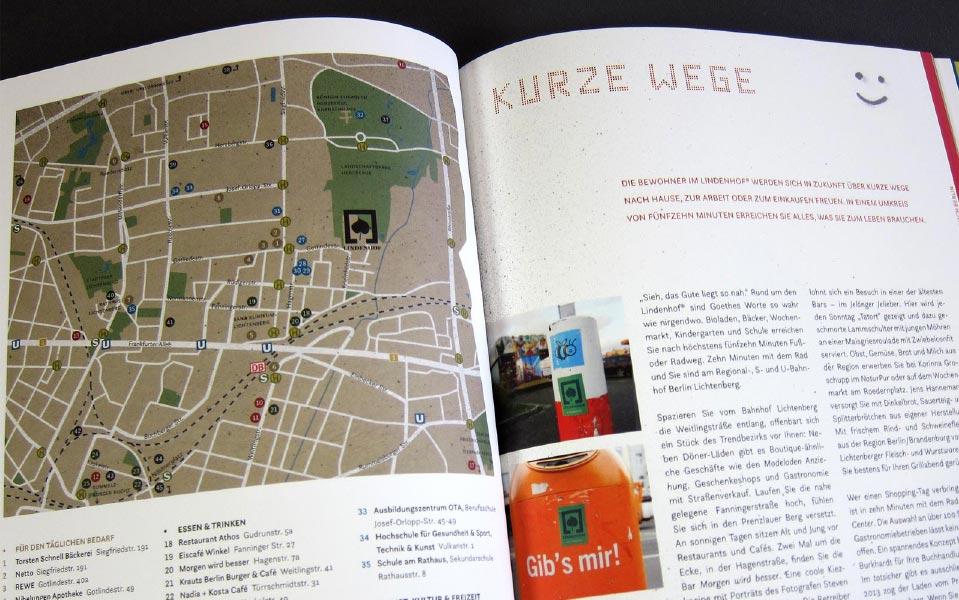 2 Lindenhof Stadtplan Illustration