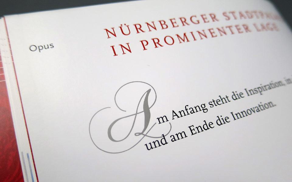 2 Opernpalais Folder Typographie