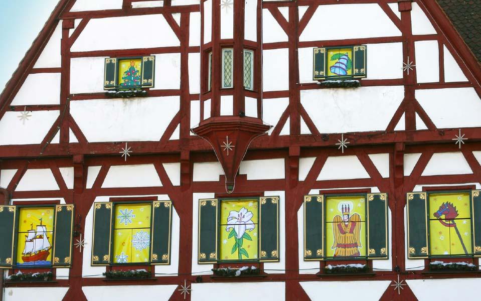 2 Stadt Forchheim Adventskalender Fensterbilder