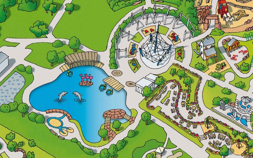 3-1 Playmobil Fun Park illustrierte Karte