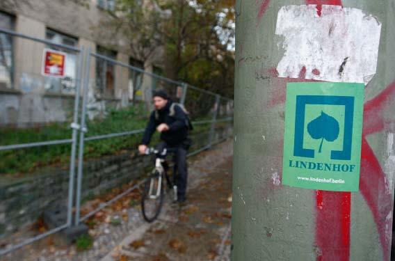 3-4 Lindenhof Logo Aufkleber Radweg