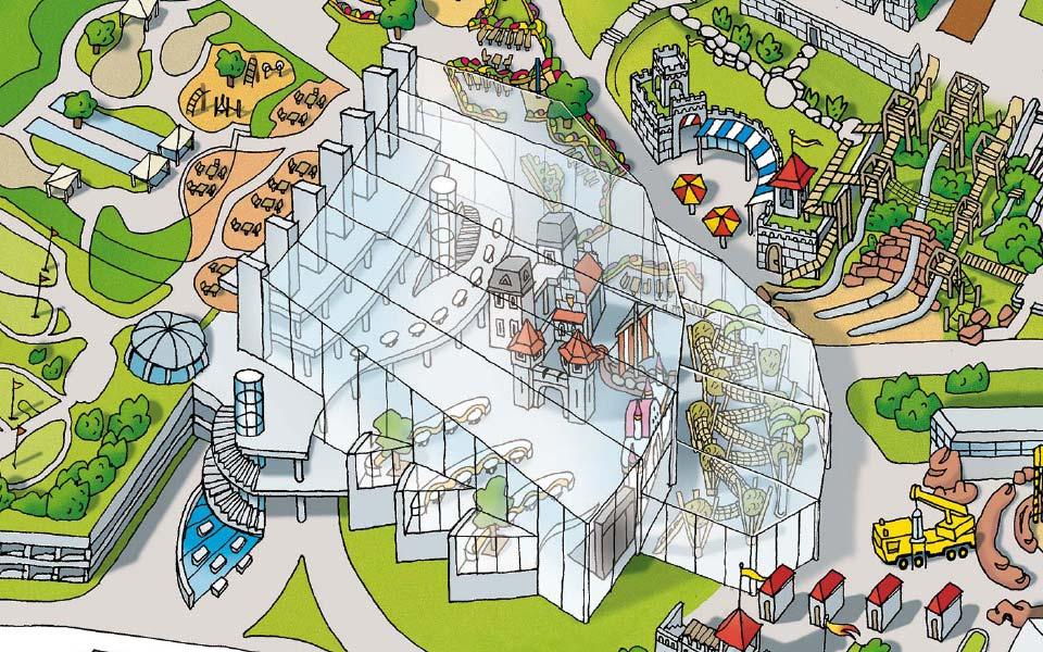 3-4 Playmobil Funpark isometrische Karte