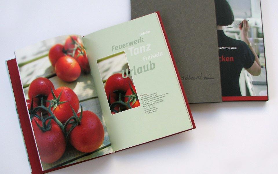 3 fein schmecken Kochbuch Gestaltung