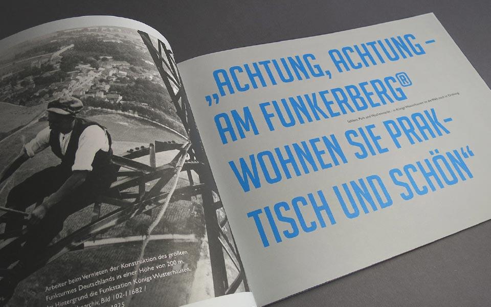 3 Imagebroschüre am Funkerberg Achtung Achtung