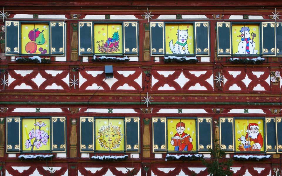 3 Stadt Forchheim Adventskalender Fensterbilder Detail