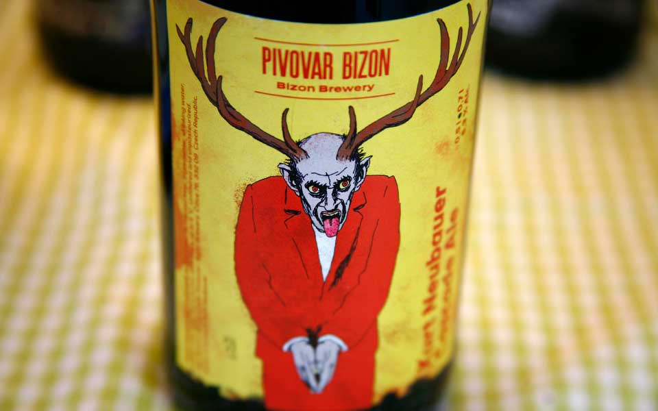 Brauerei Bizon Bieretikett Kurt Neubauer