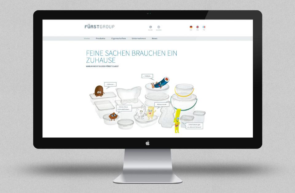 Fürstgroup Homepage Gestaltung