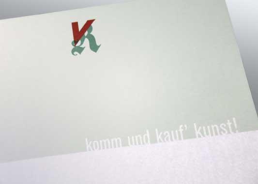 kaufkunst Briefboegen Slogan