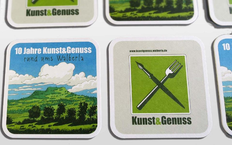 Kunst & Genuss Bierdeckel