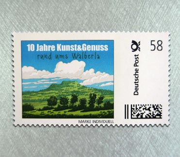 Kunst & Genuss Briefmarke