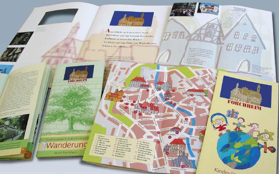 Stadt Forchheim Tourismuspropekte Illustrationen