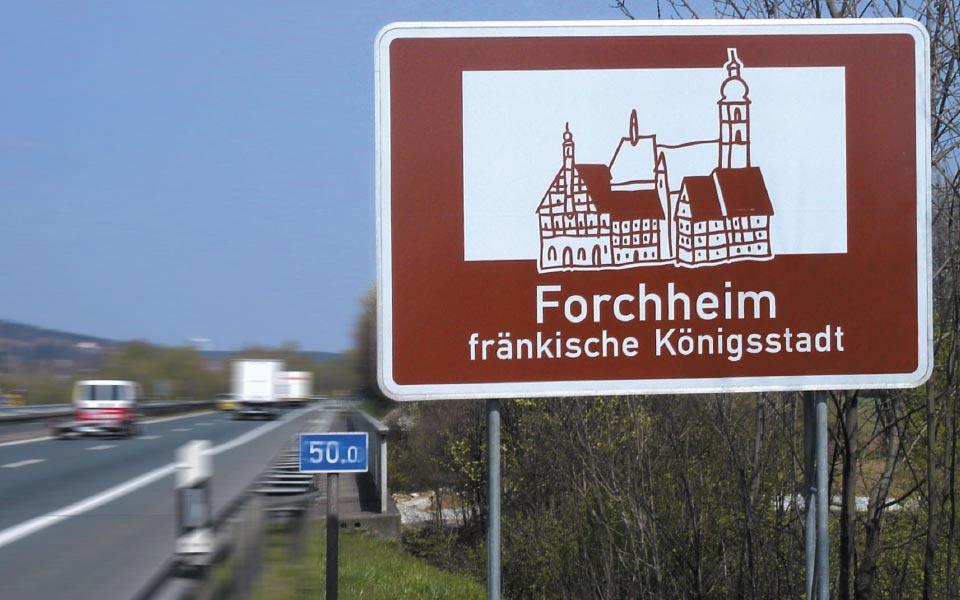 Stadt Forchheim Autobahnschild