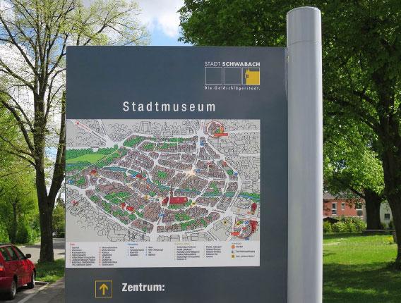 Stadtmuseum Schwabach Illustrierte Karte