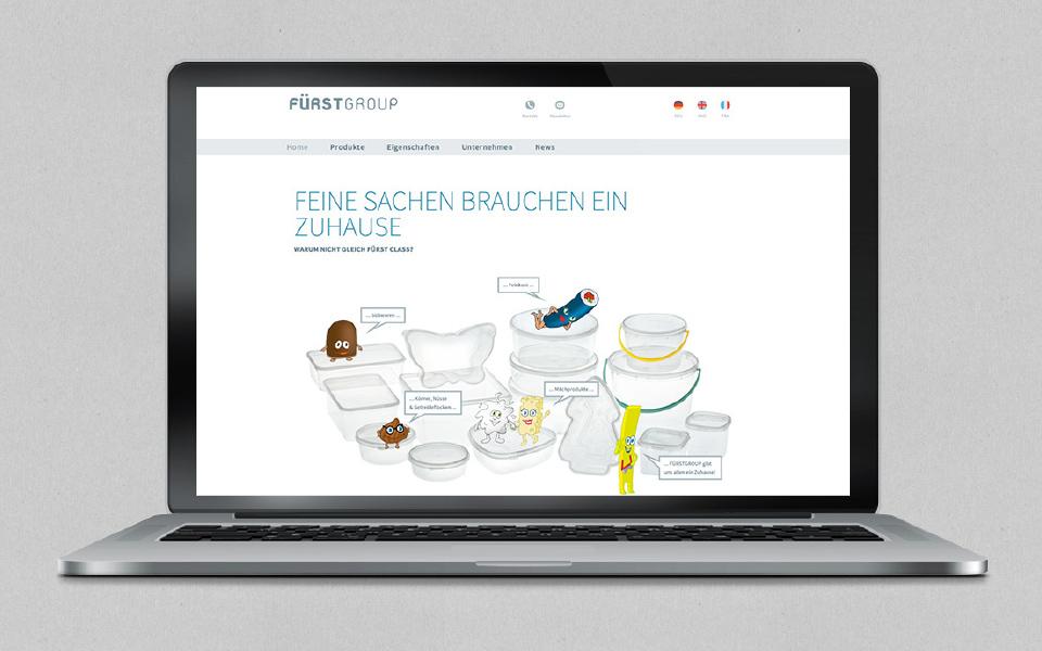 Fürstgroup Webseite MacBook