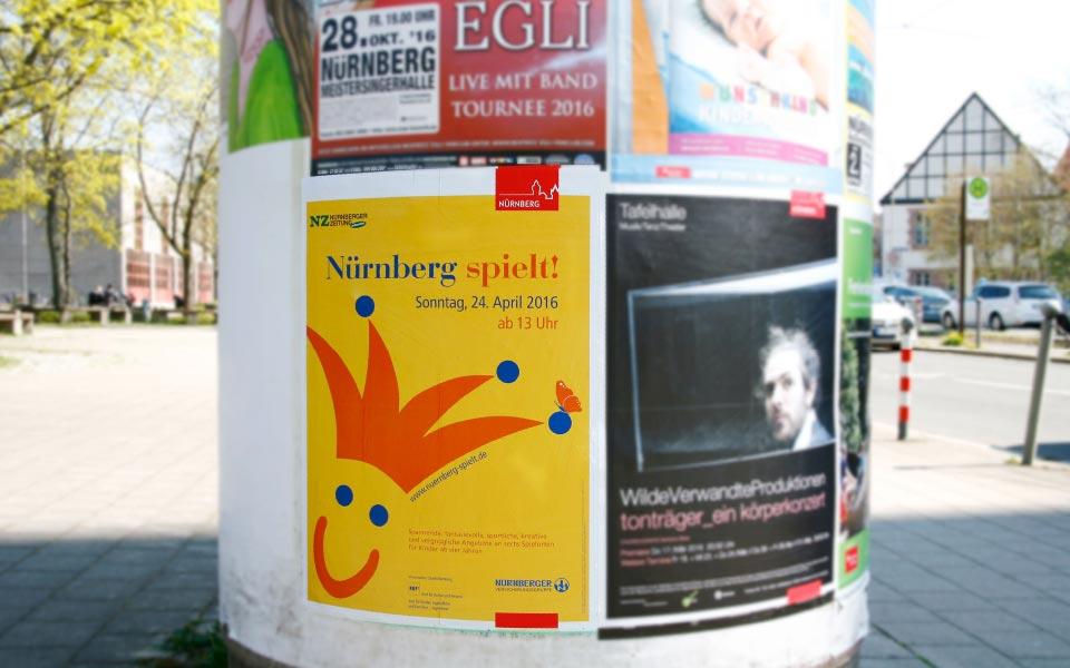 2-2 KUF Nürnberg Plakat Litfaßsäule