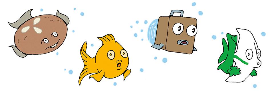 Lebkuchenfisch, Goldfisch, Kofferfisch, Fürth-Fisch