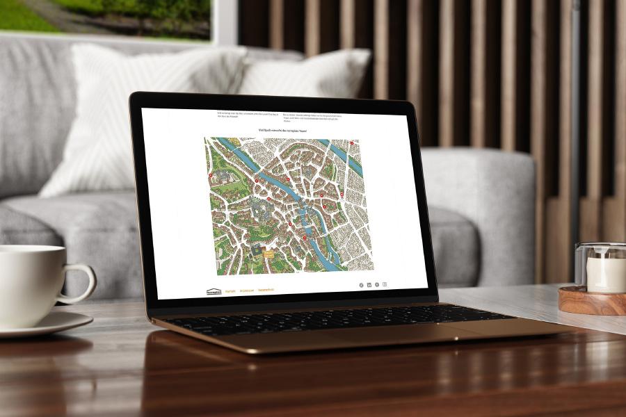 Kloster Karree – Internetauftritt Stadtplan