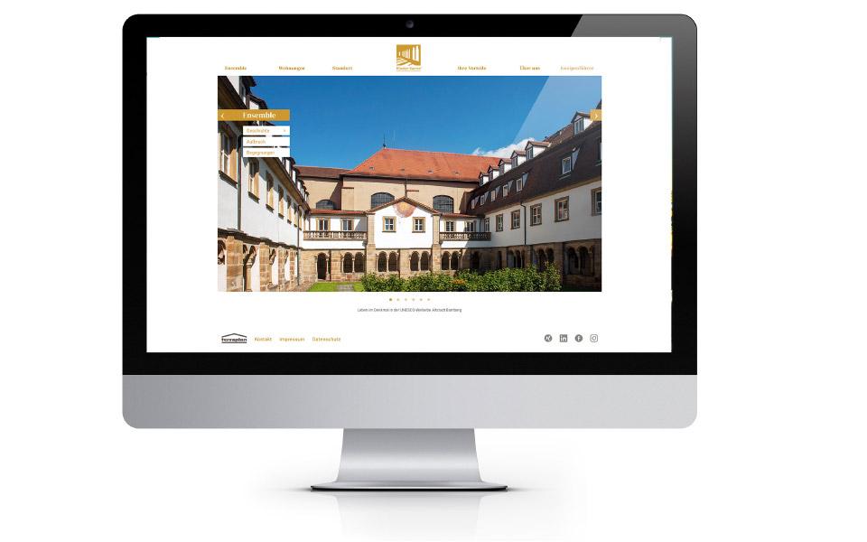 Kloster Karree –  Bamber – Internetauftritt
