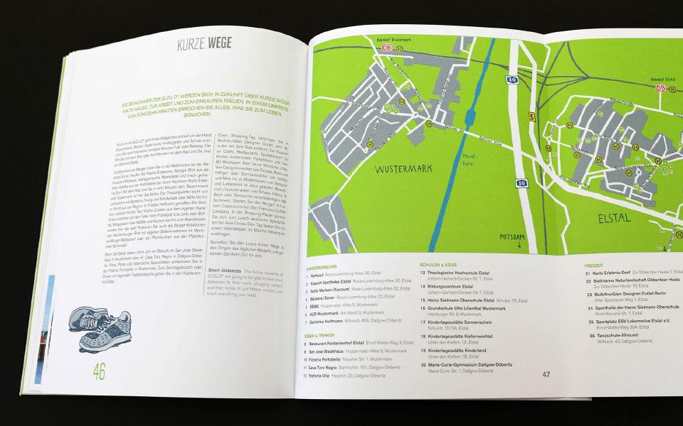G.O.L.D Gartenstadt Olympisches Dorf Broschüre