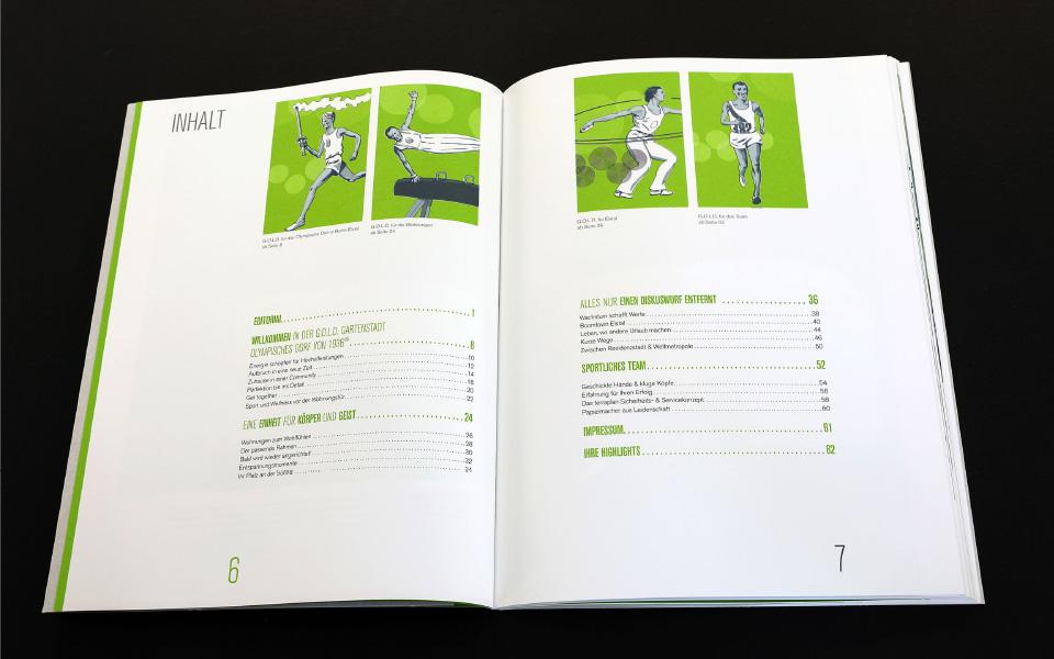 Grafikatelier – Olympisches Dorf Folder – Illustration