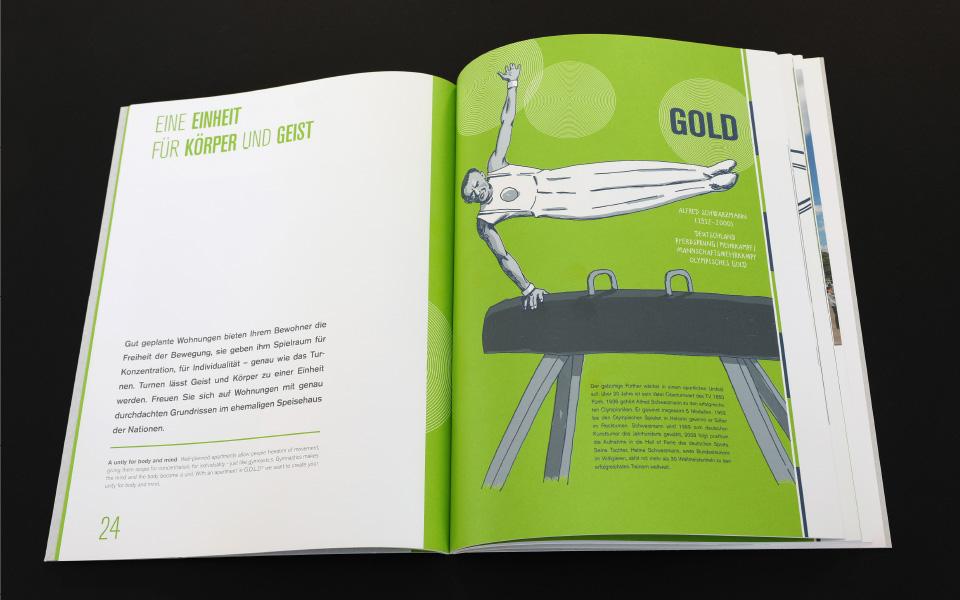 Grafikatelier – Olympisches Dorf Folder – Illustration 02