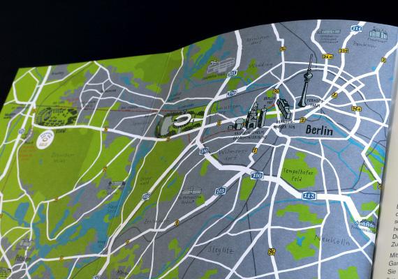 Handgezeichnete Karte Berlin