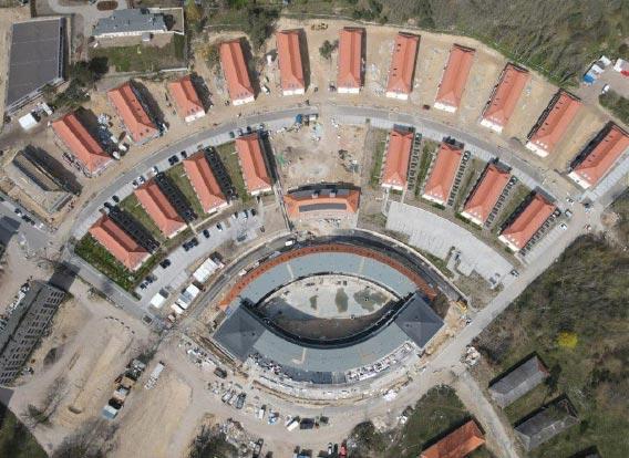 Luftaufnahme Olympisches Dorf Elstal